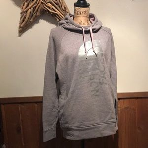 North Face grey hooded sweatshirt